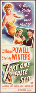"Movie Posters:Mystery, Take One False Step (Universal International, 1949). Insert (14"" X36""). Mystery.. ..."
