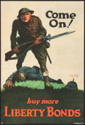 "Movie Posters:War, World War I Propaganda (U.S. Government Printing Office, 1918).Liberty Bond Poster (20"" X 29.5"") ""Come On! Buy More Liberty..."