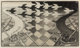 M. C. Escher (1898-1972) Day and Night, 1935 Woodcut on thin laid Japon paper 15-1/2 x 26-5/8 inches (39.4 x 67.6 cm)...