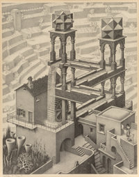 M. C. Escher (1898-1972) Waterfall, 1961 Lithograph on wove paper, from the 3rd printing 15 x 11-