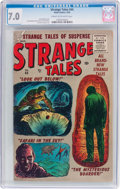 Golden Age (1938-1955):Horror, Strange Tales #44 (Atlas, 1956) CGC FN/VF 7.0 Cream to off...