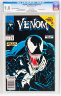 Venom: Lethal Protector #1 Black Cover/Printing Error Variant (Marvel, 1993) CGC NM/MT 9.8 White pages