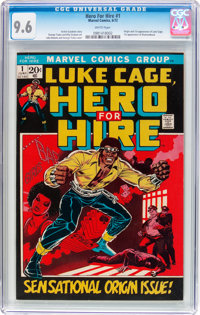 Hero for Hire #1 (Marvel, 1972) CGC NM+ 9.6 White pages