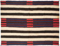 A Navajo Man's Wearing Blanket Second Phase Chief's Pattern