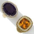 Estate Jewelry:Rings, Multi-Stone, Diamond, Gold Rings. ... (Total: 2 Items)