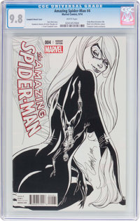 The Amazing Spider-Man #4 Campbell Sketch Cover (Marvel, 2014) CGC NM/MT 9.8 White pages