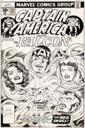 Original Comic Art:Covers, Jack Kirby Captain America #210 Cover Original Art (Marvel, 1977)....