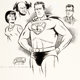 Wayne Boring - Superman Illustration Original Art (1956)