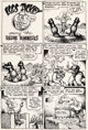 """Robert Crumb - Unpublished """"Eggs Ackley Among the Vulture Demonesses"""" Story Page 1 Original Art (1976)"""