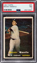 Baseball Cards:Singles (1950-1959), 1957 Topps Mickey Mantle #95 PSA NM 7....
