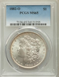 1882-O $1 MS65 PCGS. PCGS Population: (1186/96). NGC Census: (490/12). CDN: $525 Whsle. Bid for NGC/PCGS MS65. Mintage 6...