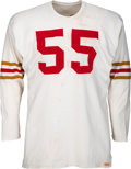 Football Collectibles:Uniforms, 1957 Matt Hazeltine Game Worn San Francisco 49ers Jersey - Rare One-Year Style! ...