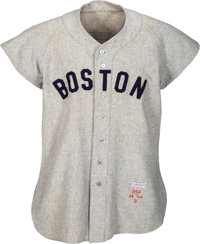 1952 Ted Williams Game Worn Boston Red Sox Jersey, MEARS A10 - Photo Matched!