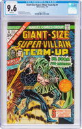 Bronze Age (1970-1979):Superhero, Giant-Size Super-Villain Team-Up #1 (Marvel, 1975) CGC NM+ 9.6White pages....