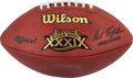 Football Collectibles:Balls, 2005 Super Bowl XXXIX Game Used Football - Brady's 3rd SB Victory! ...