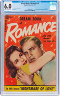 Golden Age (1938-1955):Romance, Dream Book of Romance #6 (Magazine Enterprises, 1954) CGC FN 6.0Off-white to white pages....