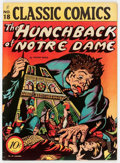 Golden Age (1938-1955):Classics Illustrated, Classic Comics #18 The Hunchback of Notre Dame - First Edition(Gilberton, 1944) Condition: FN....