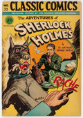 Golden Age (1938-1955):Classics Illustrated, Classic Comics #33 The Adventures of Sherlock Holmes - FirstEdition (Gilberton, 1947) Condition: VG+....