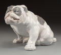 Ceramics & Porcelain, A Large Royal Copenhagen Porcelain English Bulldog Figure, Copenhagen, Denmark, designed 1906 by Knud Kyhn, manu...