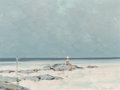 Paintings, André Gisson (French/American, 1921-2003). On the Beach. Oil on canvas. 12 x 16 inches (30.5 x 40.6 cm). Signed lower ri...