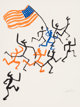 Alexander Calder (American, 1898-1976) Madison Square Boy's Club, 1974 Lithograph in colors on paper 31-1/2 x 23-3/4