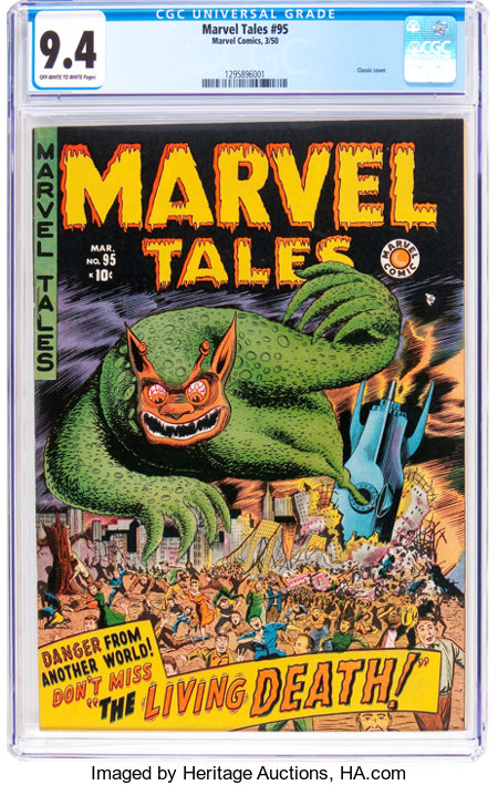 Marvel Tales #95 (Marvel, 1950) CGC NM 9.4 Off-white to white pages....