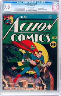 Action Comics #26 (DC, 1940) CGC FN/VF 7.0 Off-white pages