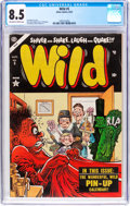 Golden Age (1938-1955):Humor, Wild #5 (Atlas, 1954) CGC VF+ 8.5 Off-white to white pages....