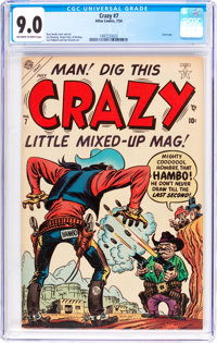 Crazy #7 (Atlas, 1954) CGC VF/NM 9.0 Off-white to white pages