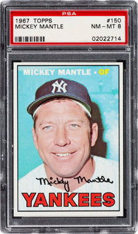 1967 Topps Mickey Mantle #150 PSA NM-MT 8