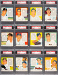 Baseball Cards:Sets, 1955 Red Man (With Tabs) Baseball American League PSA-Graded Complete Set (25). ...