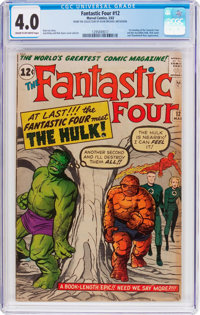 Fantastic Four #12 (Marvel, 1963) CGC VG 4.0 Cream to off-white pages