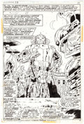 "Original Comic Art:Splash Pages, Herb Trimpe and Frank Chiaramonte Amazing Adventures #23""War of the Worlds"" Splash Page 6 Original Art (Marvel, 1..."