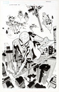 Original Comic Art:Splash Pages, Stuart Immonen Ultimate Spider-Man #115 Splash Page 16Original Art (Marvel, 2007)....