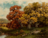 Robert Melvin Decker (American, 1847-1921) Adirondack Foliage Oil on canvas 16 x 20 inches (40.6