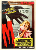 "Movie Posters:Crime, M (Unidis, 1960). First Post-War Release Italian 2 - Fogli (39"" X55"") Dante Manno Artwork.. ..."
