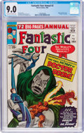 Silver Age (1956-1969):Superhero, Fantastic Four Annual #2 (Marvel, 1964) CGC VF/NM 9.0 Off-white to white pages....
