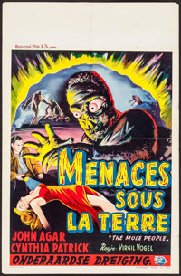"The Mole People (Universal International, 1956). Belgian (14"" X 21.5""). Science Fiction"