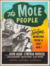 "The Mole People (Universal International, 1956). Poster (30"" X 40""). Science Fiction"