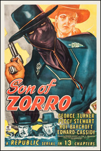 "Son of Zorro (Republic, 1947). One Sheet (27"" X 41""). Serial"