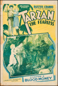 """Movie Posters:Serial, Tarzan the Fearless (Principal Distributing, 1933). One Sheet (27"""" X 41""""). Chapter 5 -- """"Blood Money."""" Serial.. ..."""