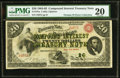 Large Size:Compound Interest Treasury Notes, Fr. 191a $20 1864 Compound Interest Treasury Note PMG Very Fine20.. ...