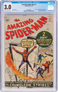 Silver Age (1956-1969):Superhero, The Amazing Spider-Man #1 (Marvel, 1963) CGC GD/VG 3.0 Off-white to white pages....