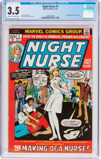 Night Nurse #1 (Marvel, 1972) CGC VG- 3.5 Cream to off-white pages
