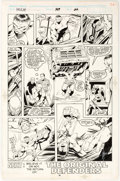 Original Comic Art:Panel Pages, Dale Keown and Bob McLeod The Incredible Hulk #369 StoryPage 22 Original Art (Marvel, 1990)....