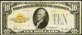 Small Size, Fr. 2400 $10 1928 Gold Certificate. Fine.. ...
