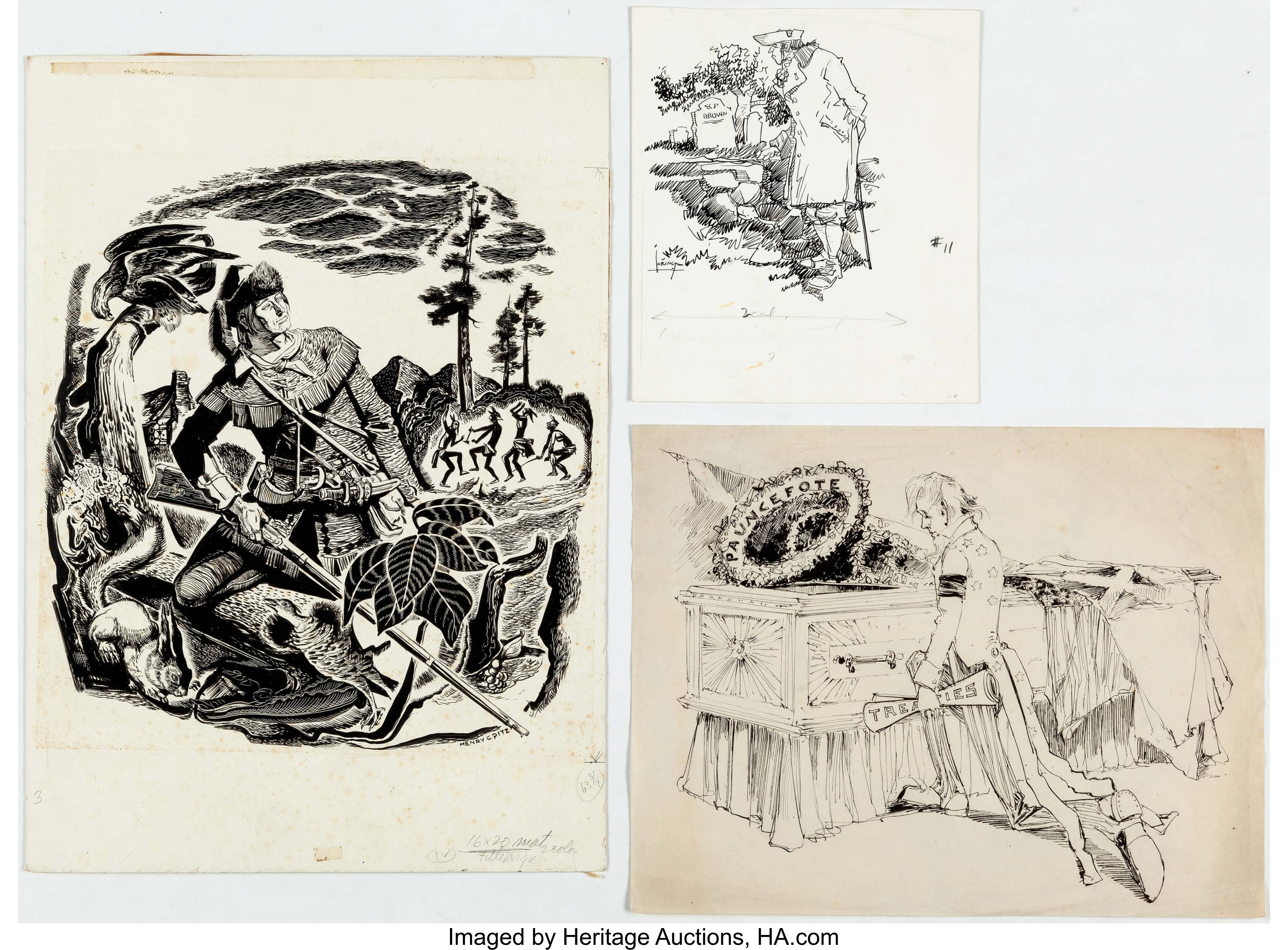 Henry Pitz And Others American Artist Magazine Cover And Additional Lot 11140 Heritage Auctions