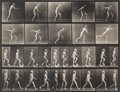 Photographs, Eadweard Muybridge (British, 1830-1904). Animal Locomotion, Plate 519, (self-portrait), 1887. Collotype. 9-3/8 x 12-1/8 ...