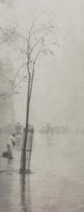 Photographs, Alfred Stieglitz (American, 1864-1946). Spring Showers, The Street Cleaner, 1900. Photogravure from Camera Notes Vol. 5 ...