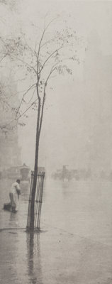 Alfred Stieglitz (American, 1864-1946) Spring Showers, The Street Cleaner, 1900 Photogravure from Ca